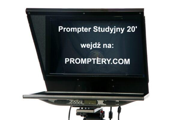 prompter studyjny z monitorem