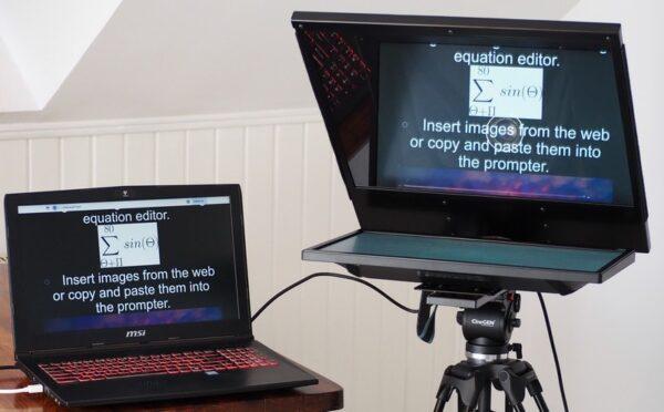 Prompter duży z monitorem promptery.com