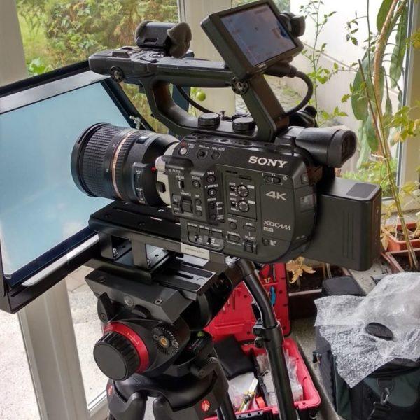 wynajem promptera prompter z kamerą sony